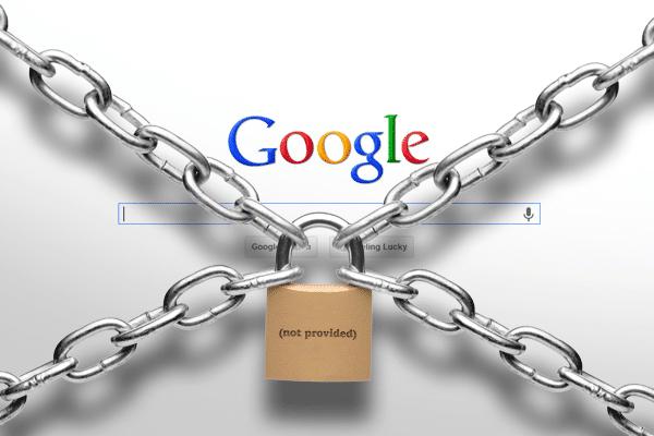 La page google ceinturée de chaines avec un cadenas