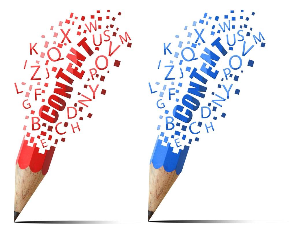 Deux crayons écrivent Content