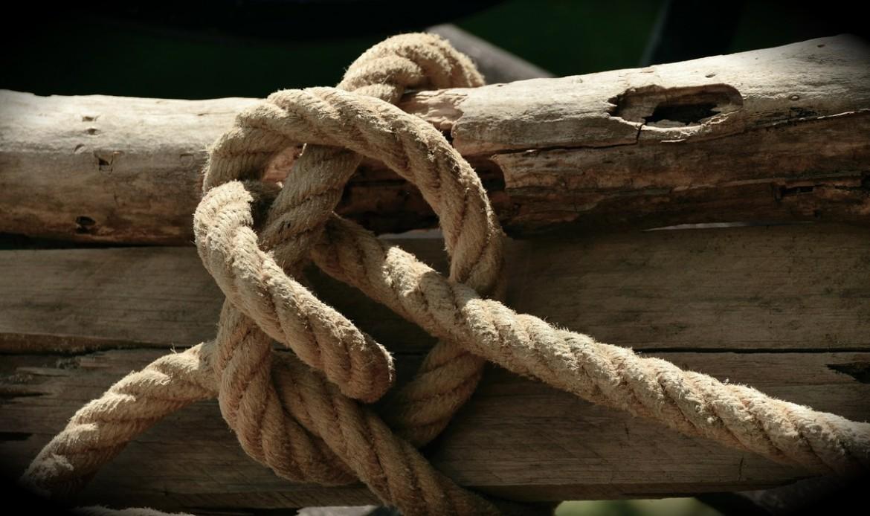 Du bois est fagoté par une corde épaisse