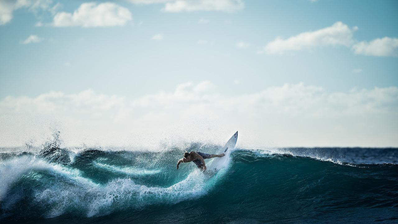 Un surfeur