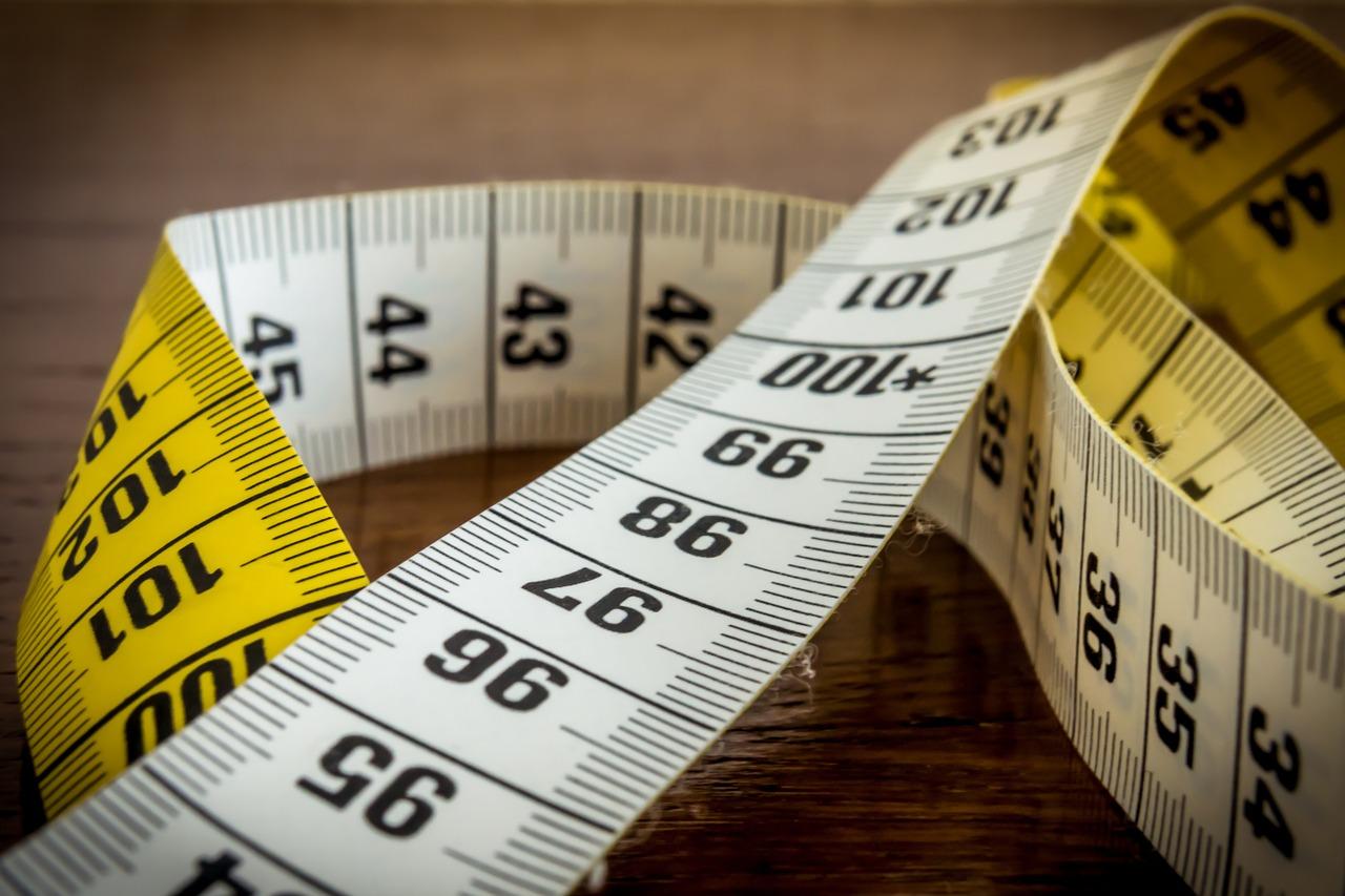 Un ruban de mesure de couture