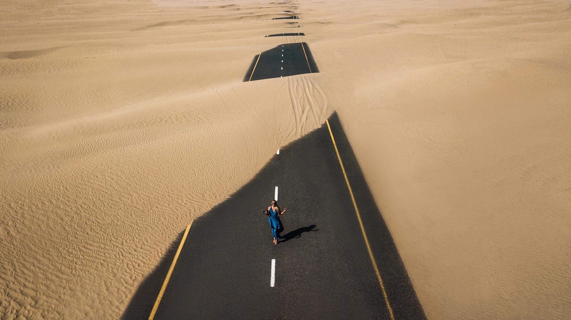 route ensablée