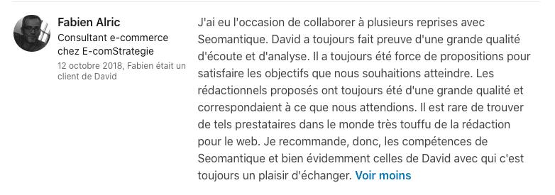 Témoignage Fabien Alric
