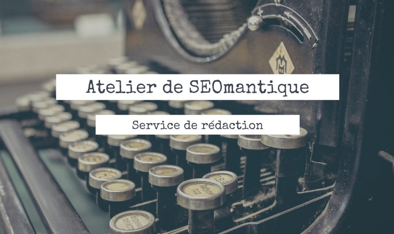 Panneau service de rédaction de seomantique